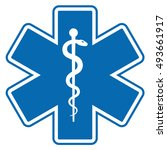 medical symbol of the emergency ... | Shutterstock . vector #493661917