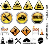 under construction icons | Shutterstock .eps vector #493663405