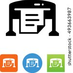 large format printer icon | Shutterstock .eps vector #493663987