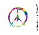 peace sign.    Shutterstock .eps vector #493664635