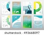 leaflet cover presentation... | Shutterstock .eps vector #493668097