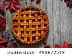 homemade traditional sweet... | Shutterstock . vector #493672519