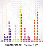 abstract mosaic design with... | Shutterstock .eps vector #49367449