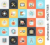 flat conceptual icons pack of... | Shutterstock .eps vector #493677085