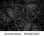 black and white abstract... | Shutterstock . vector #493681681