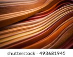 curved wooden pattern
