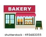 bakery illustrations | Shutterstock .eps vector #493683355