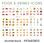 food and drink flat vector...