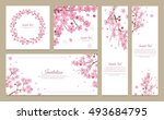 set of greeting cards  banners... | Shutterstock .eps vector #493684795