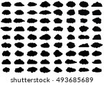 Cloud Vector Icon Set Black...