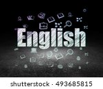studying concept  glowing text... | Shutterstock . vector #493685815