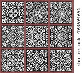 square monochrome decorative... | Shutterstock .eps vector #493694695