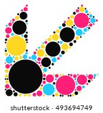 arrow shape vector design by... | Shutterstock .eps vector #493694749