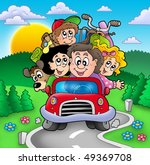 happy family going on vacation  ... | Shutterstock . vector #49369708