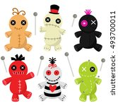 cute voodoo doll collection | Shutterstock .eps vector #493700011