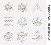 sacred geometry. sacred... | Shutterstock .eps vector #493700869