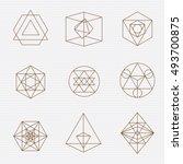 sacred geometry. sacred... | Shutterstock .eps vector #493700875