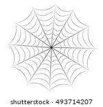 halloween spiderweb vector... | Shutterstock .eps vector #493714207