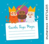 the three kings of orient.... | Shutterstock .eps vector #493716205