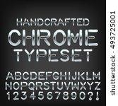 handcrafted metal typeset... | Shutterstock .eps vector #493725001