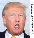 Small photo of NEW YORK - July 6, 2015: Donald Trump attends the Hanks Yank's Golf Classic at the Trump Golf Links at Ferry Point on July 6, 2015 ,in New York City.