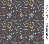 elegant seamless  pattern with... | Shutterstock .eps vector #493742779
