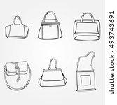 set of handbags | Shutterstock .eps vector #493743691
