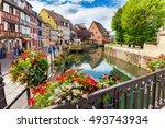 colmar  france august 03  2016. ... | Shutterstock . vector #493743934