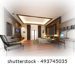 abstract sketch design of... | Shutterstock . vector #493745035