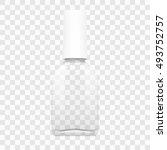 transparent nail polish mockup... | Shutterstock .eps vector #493752757