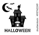 halloween haunted house card   Shutterstock .eps vector #493762249