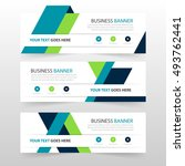 green blue triangle corporate... | Shutterstock .eps vector #493762441
