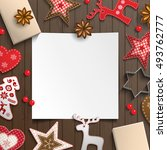 abstract christmas background ... | Shutterstock .eps vector #493762777