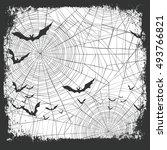 halloween border for design.... | Shutterstock .eps vector #493766821
