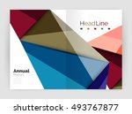 vector triangle business... | Shutterstock .eps vector #493767877