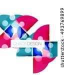 vector circle abstract... | Shutterstock .eps vector #493769899