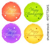 thanksgiving typography stamp | Shutterstock .eps vector #493772641