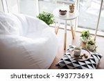 scandinavian style hipster... | Shutterstock . vector #493773691