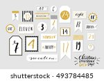 abstract black  white and golg... | Shutterstock .eps vector #493784485