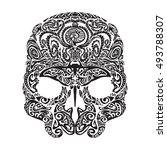 Skull Tattoo In The Style Of...