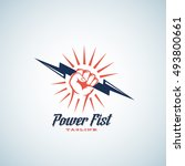 power fist abstract vector... | Shutterstock .eps vector #493800661