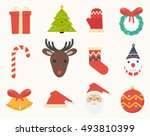 christmas decorations icons | Shutterstock .eps vector #493810399