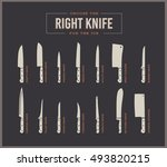 big set of kitchen knives with...