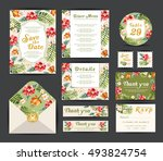 wedding floral template... | Shutterstock .eps vector #493824754