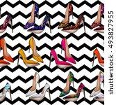 seamless pattern   all over... | Shutterstock . vector #493827955