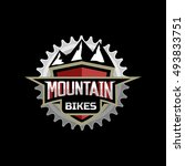 mountain bike logo emblem icon... | Shutterstock .eps vector #493833751
