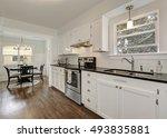 white kitchen storage... | Shutterstock . vector #493835881