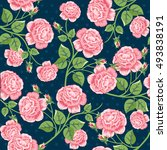 seamless floral pattern with... | Shutterstock .eps vector #493838191