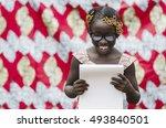 reading symbol   african... | Shutterstock . vector #493840501