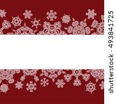 red winter background with... | Shutterstock .eps vector #493841725